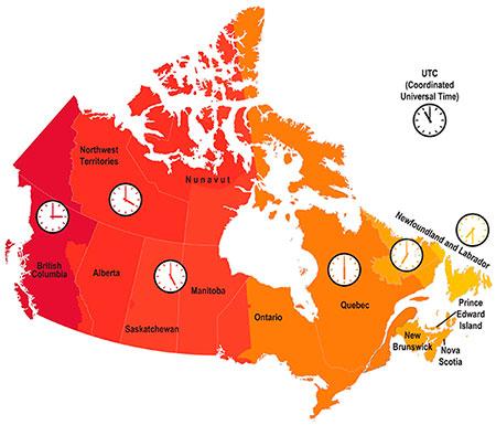 Fuso Horário no Canadá